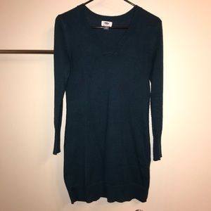 Old Navy teal v-neck long sleeve sweater dress XS